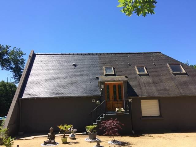 Nettoyage toiture avant/après
