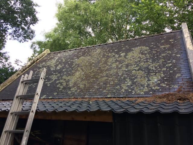Nettoyage toiture avant travaux