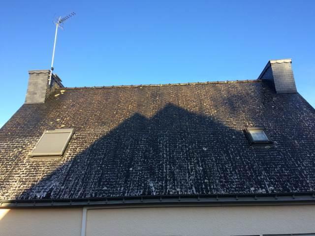 Nettoyage toiture pendant travaux