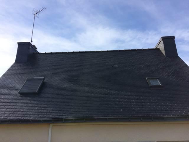 Nettoyage toiture après travaux