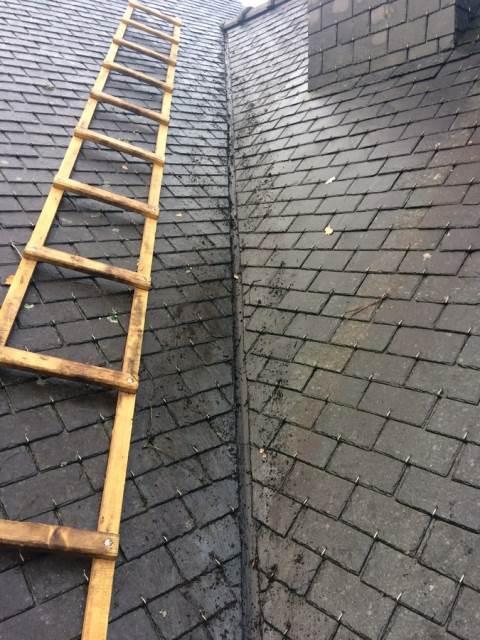 Réparation de la noue de la toiture : avant travaux