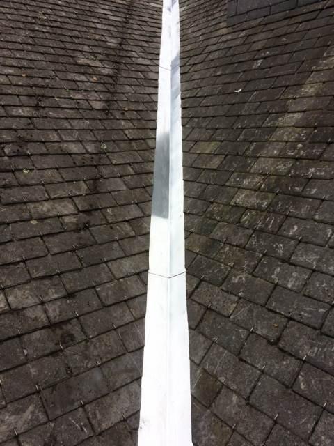 Réparation de la noue de la toiture : après travaux