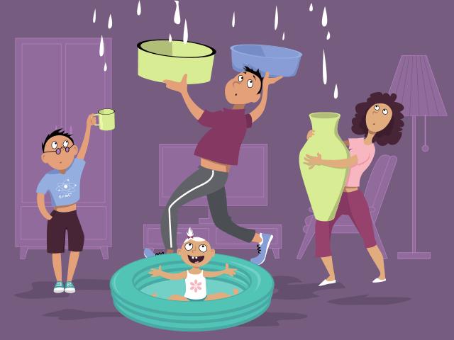 Des fuites dans la maison
